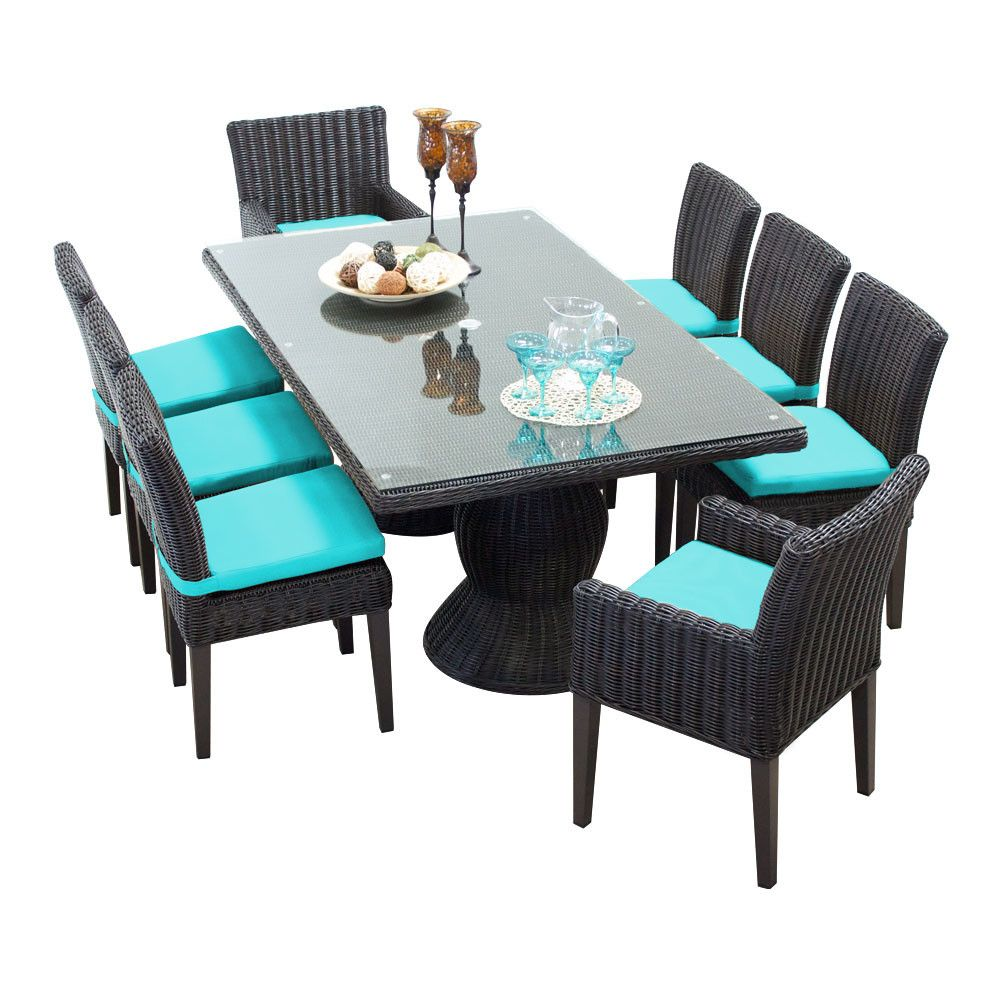Venice 9 Piece Dining Set with Cushions | Products | Pinterest