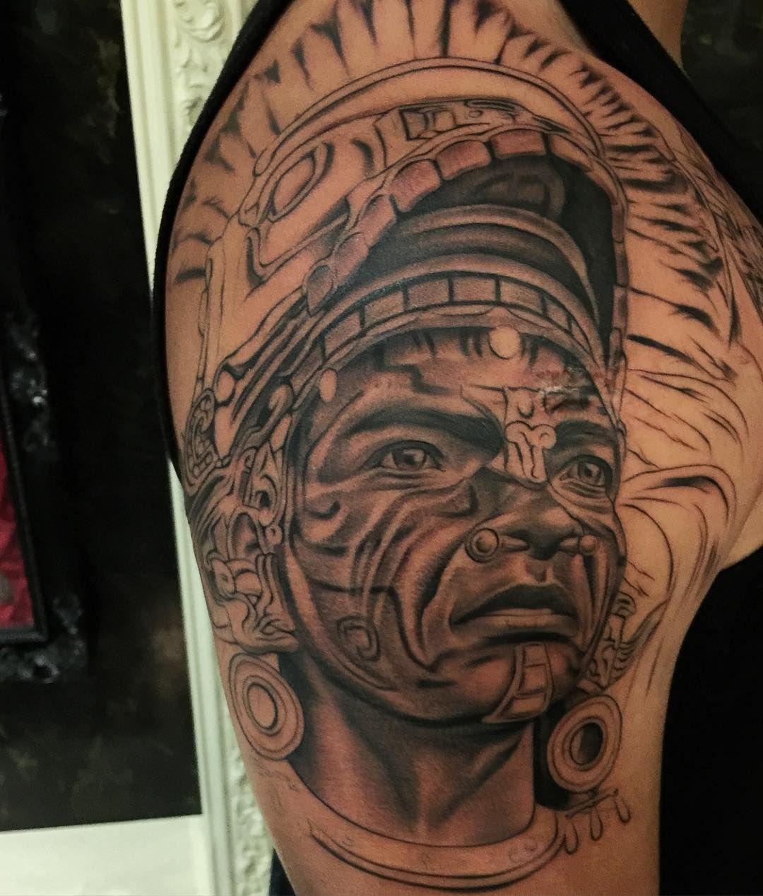 Tattoo cross designs viking tattoo designs awesom aztec for Aztec hand tattoo