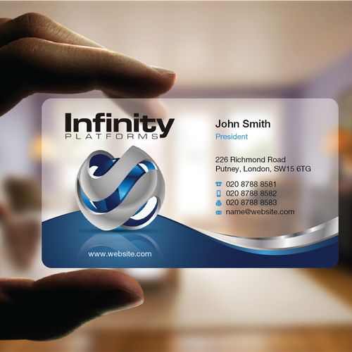 New software company needs business card design infinity platforms new software company needs business card design infinity platforms is a company that designs software platofrms colourmoves