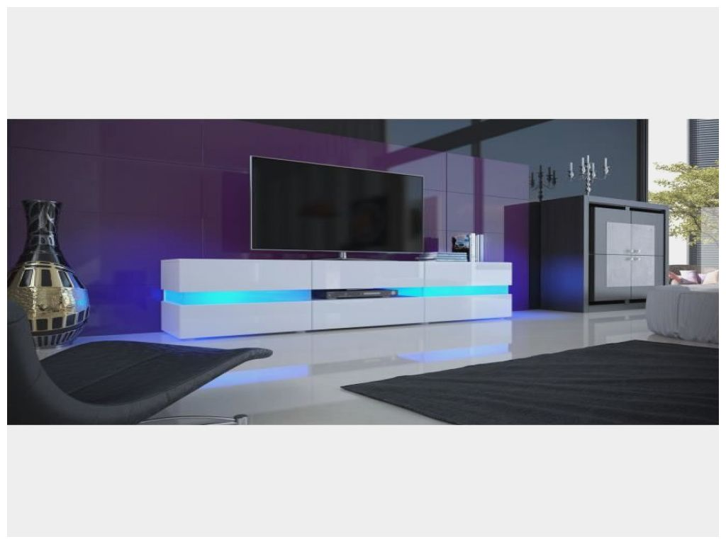 Beau Meuble Tv Blanc Avec Led Conforama