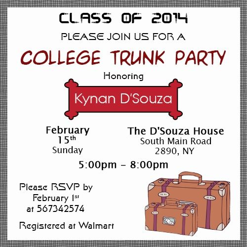 Insanely Good Ideas to Throw the Perfect College Trunk Party Party - fresh invitation wording for trunk party