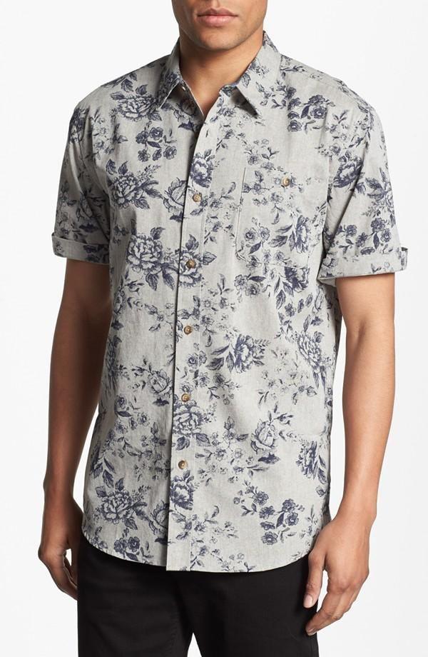 Jinyuan Camisa De Flores De Verano para Hombres Camisa Delgada De Manga Corta Estampada Ropa Hawaiana para Hombres Camisa Floral Informal para Hombres M-5XL