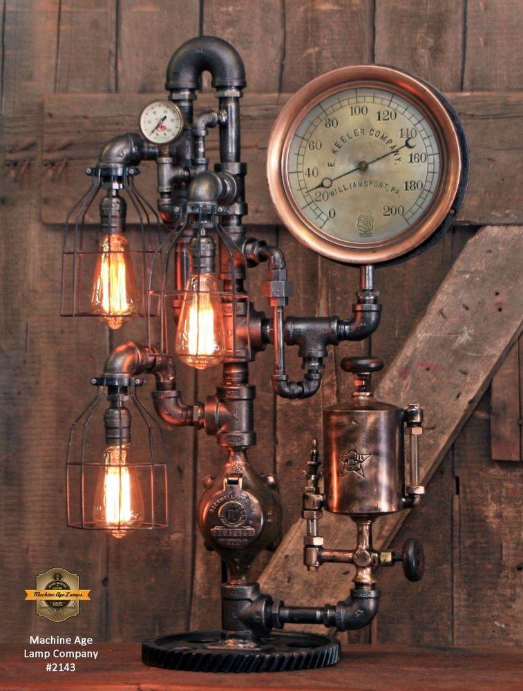 Details About Steampunk Lamp Machine Age Steam