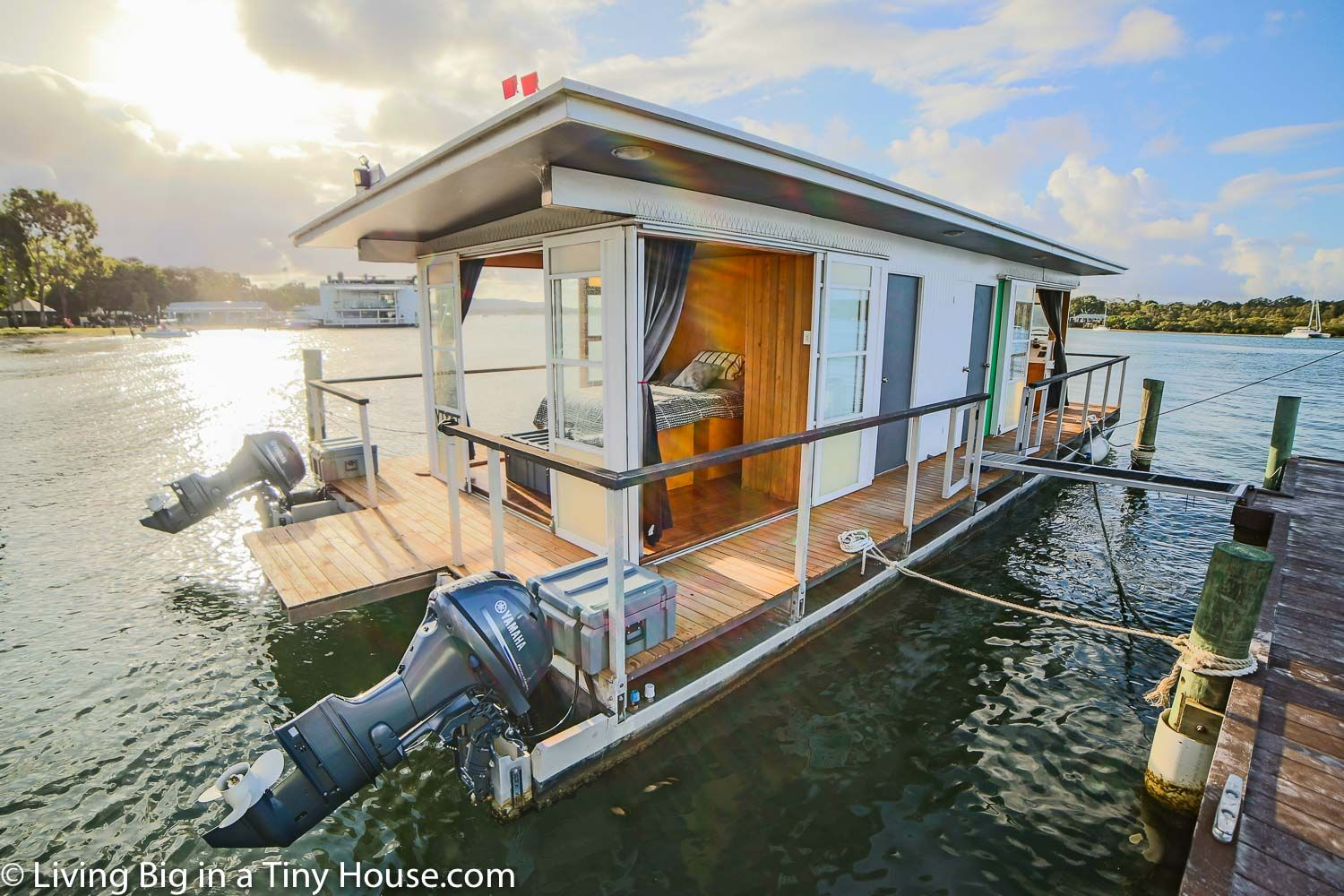 Life On The Water In A Tiny House Boat Living Big In A