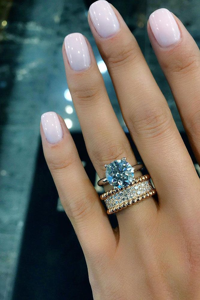 10 Fresh Engagement Ring Trends For 2018 Bride Nails Wedding Nails For Bride Jewelery