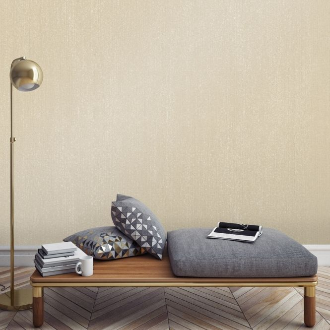 Prosecco Glitter Plain Speedyhang Wallpaper Beige, Cream & Gold