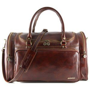 Tuscany Leather Praga Sac de voyage en cuir Marron iCoGAJQu