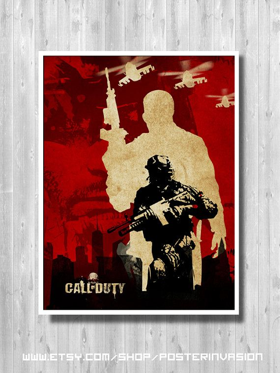 Call Of Duty Poster Gamer Room Poster For Fan By Posterinvasion Video Game Posters Gamer Room Diy Room Posters