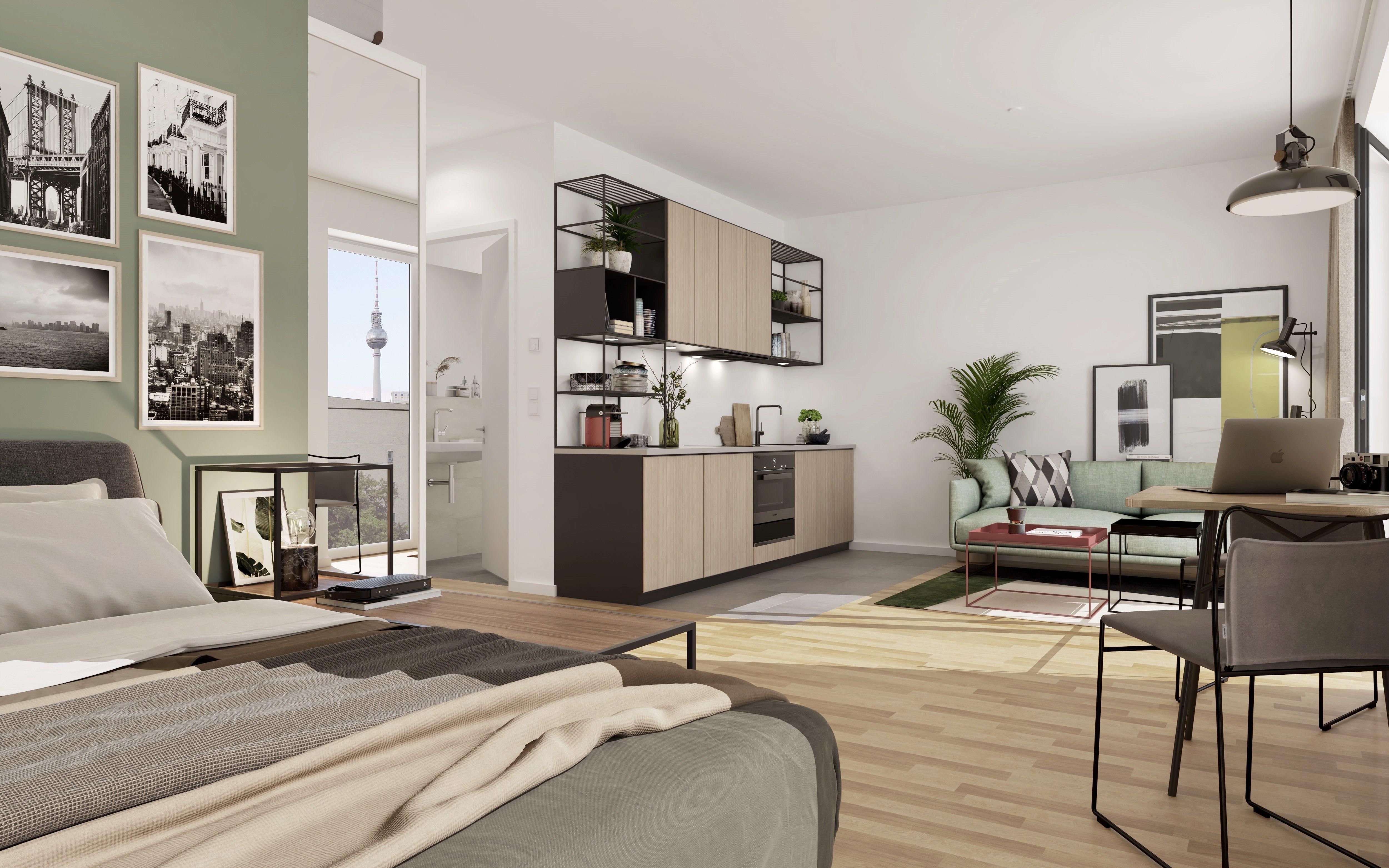 Erleben Sie Diese Moderne 1 Zimmer Wohnung In Unserem Neubauprojekt Schilling In Berlin Mitte Mit Hilfe Des 360 Grad Rundgangs N In 2020 Wohnung Haus 1 Zimmer Wohnung