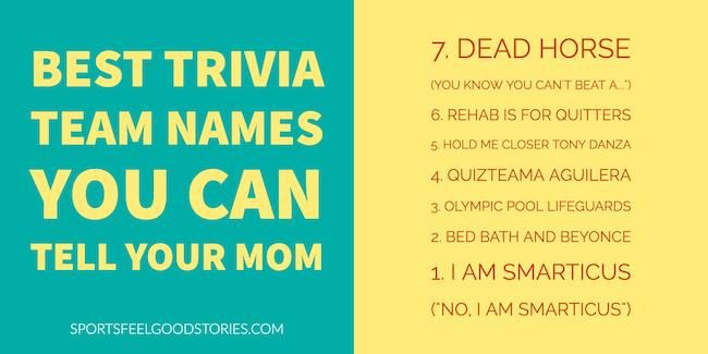 Funny Trivia Team Names | Trivia Team Names | Trivia team