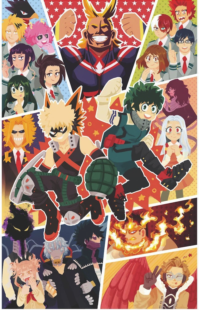 Bnha Print My Hero Anime Anime Wallpaper