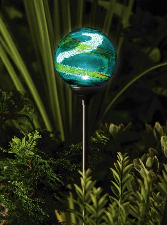 beautiful crackle ball garden led solar glass lights sale landscape powered