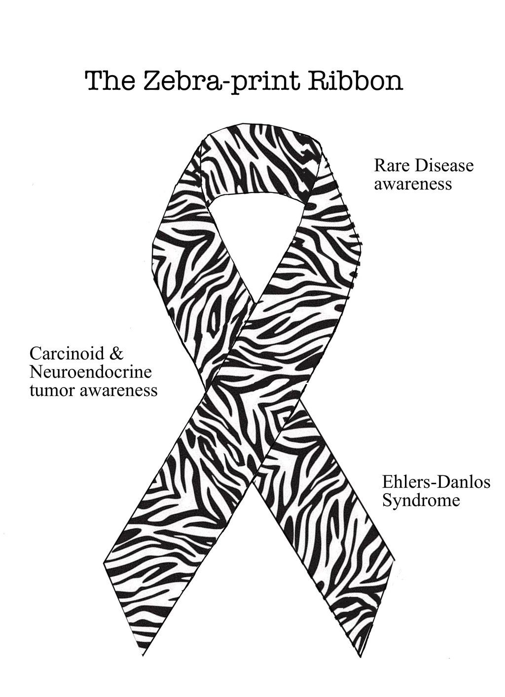 zebra ribbon rare disease awareness we get zebra pins every