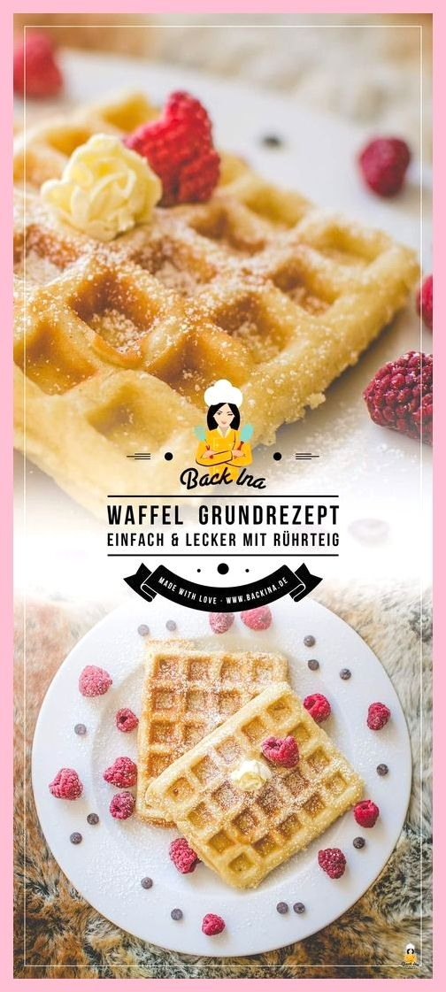 Basic recipe for batter-based waffles: Fast and good!,