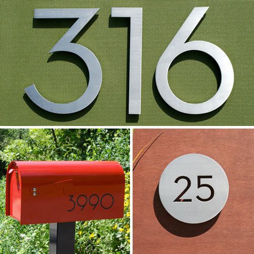 Modern House Numbers Giveaway Design Milk House Numbers