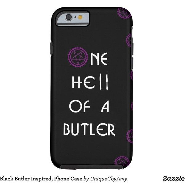 Black Butler Inspired, Phone Case (£35) ❤ liked on Polyvore featuring accessories, tech accessories and anime