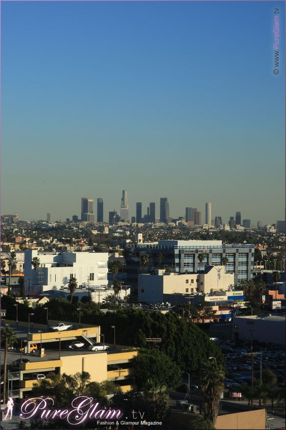 View from the W Hotel Hollywood with Downtown LA, 6250 ...