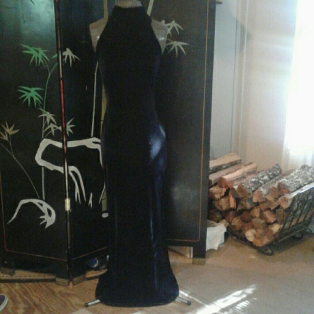 B smart long sexy black gown dress black and products
