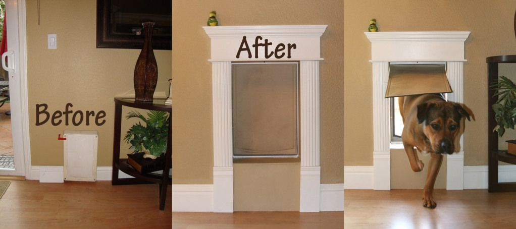 Dog Door Makeover When We Bought Our Home We Didnt Have A Dog But