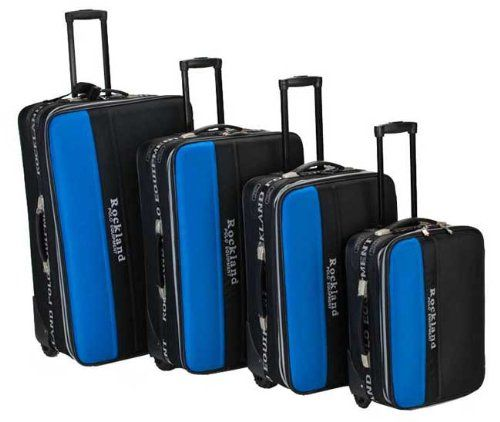 Rockland Polo Equipment Jet 4Piece Luggage Set  Black  Royal Blue >>> Click on the image for additional details.
