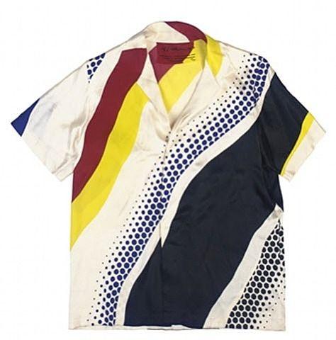 soulhospital:  Untitled shirt - Roy Lichtenstein, 1979. Pop Art/Textiles - Screenprint on silk sateen, 76.2 x 91.4cm. For purchase.