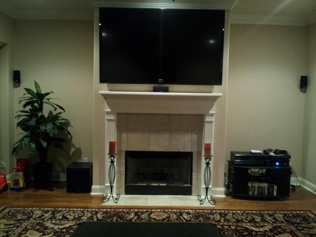 70 tv michigan lake house millwork fireplace redo michigan rh pinterest com  70 inch tv fireplace stand