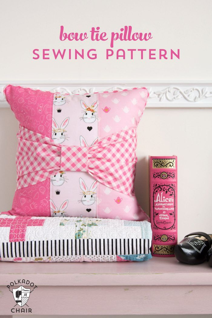Bow Tie Pillow Sewing Pattern Tie Pillows Riley Blake And Sewing