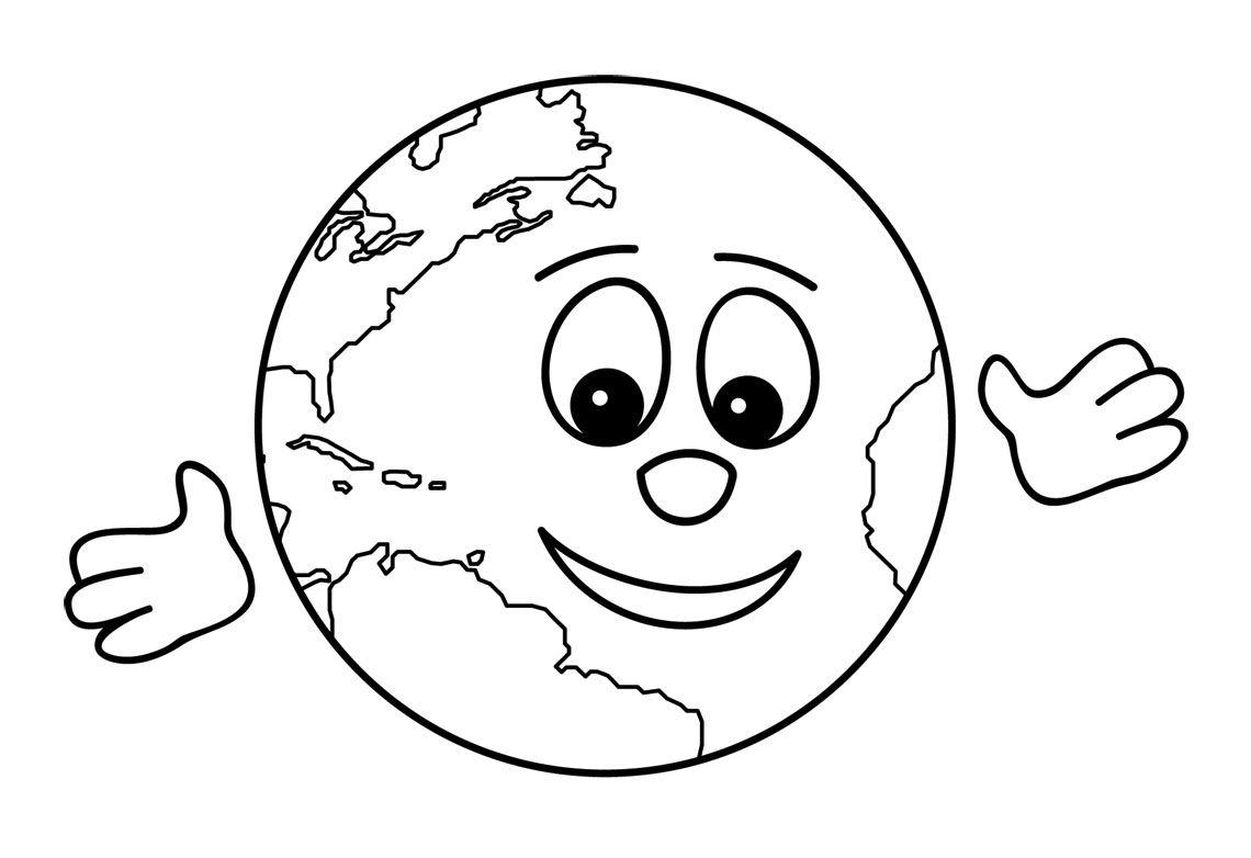 Saludos Tierra Dibujalia Dibujos Para Colorear Eventos Earth Day Coloring Pages Free Clip Art Clip Art