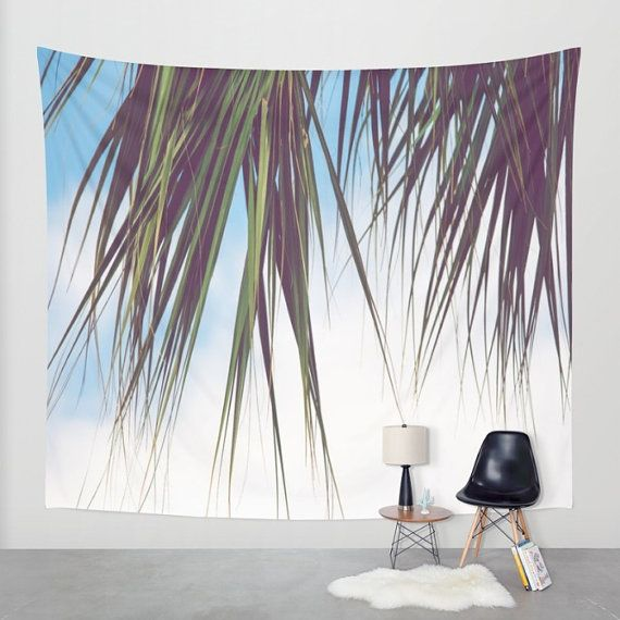 Beach Wall Tapestry Palm Tree Hanging By Robinwrendecor