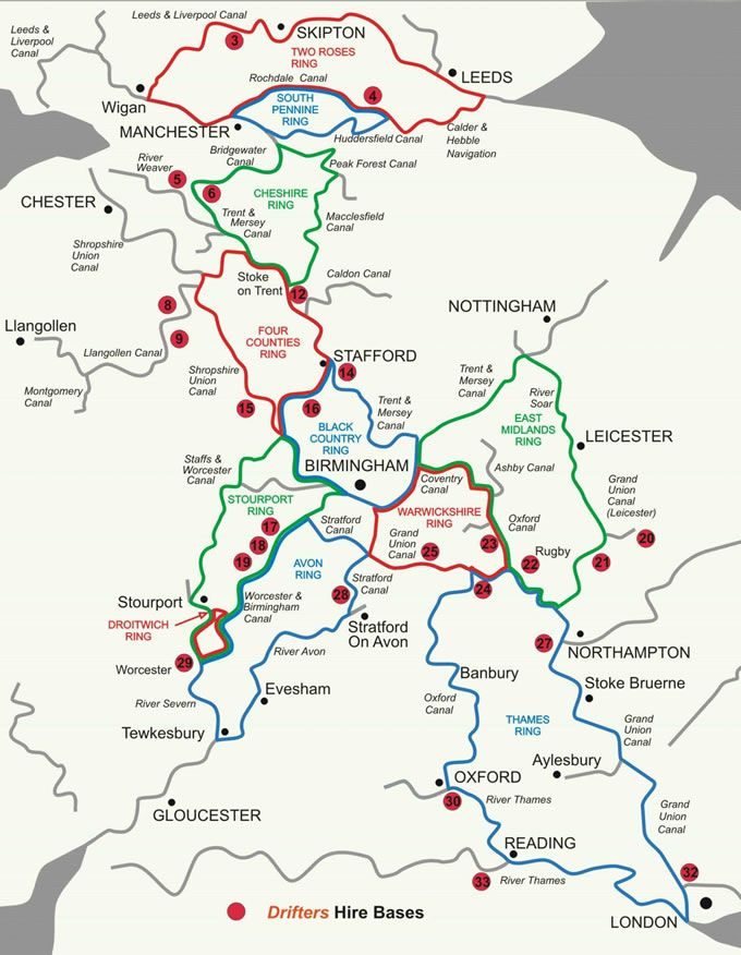 Map Of Uk Rivers And Canals.Maps Of The Canal Rings In The Uk Canals And Rivers List