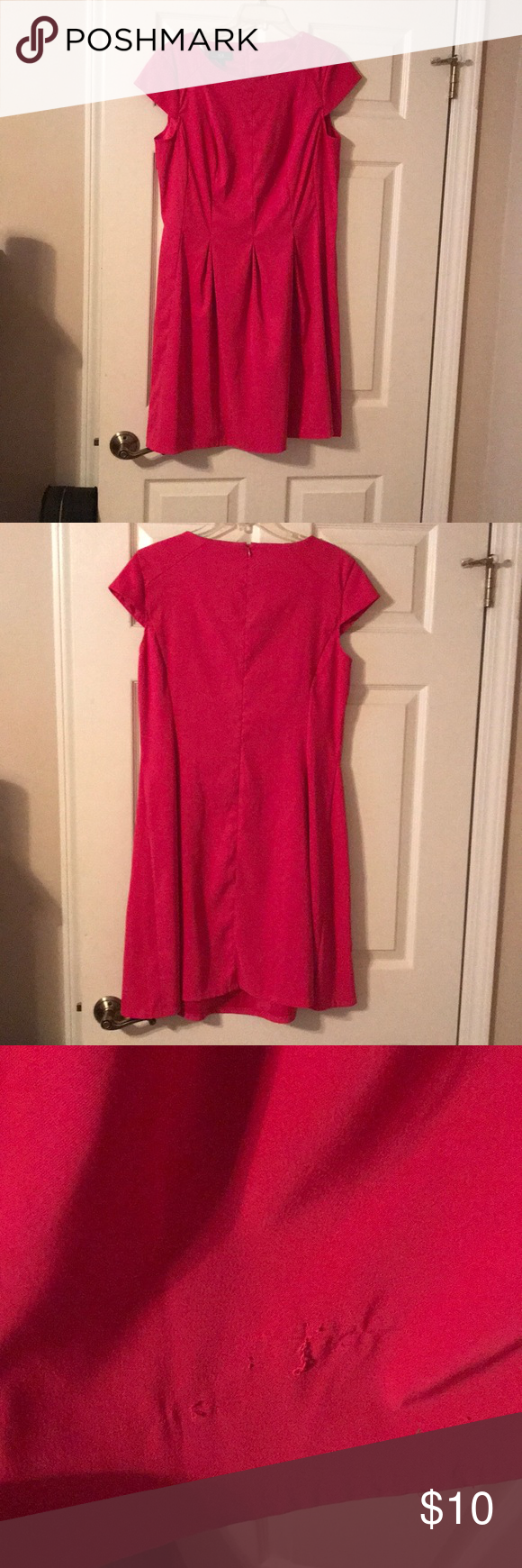 Fuchsia CockTail Dress from Belk   Short sleeves, Size 16 and Minis