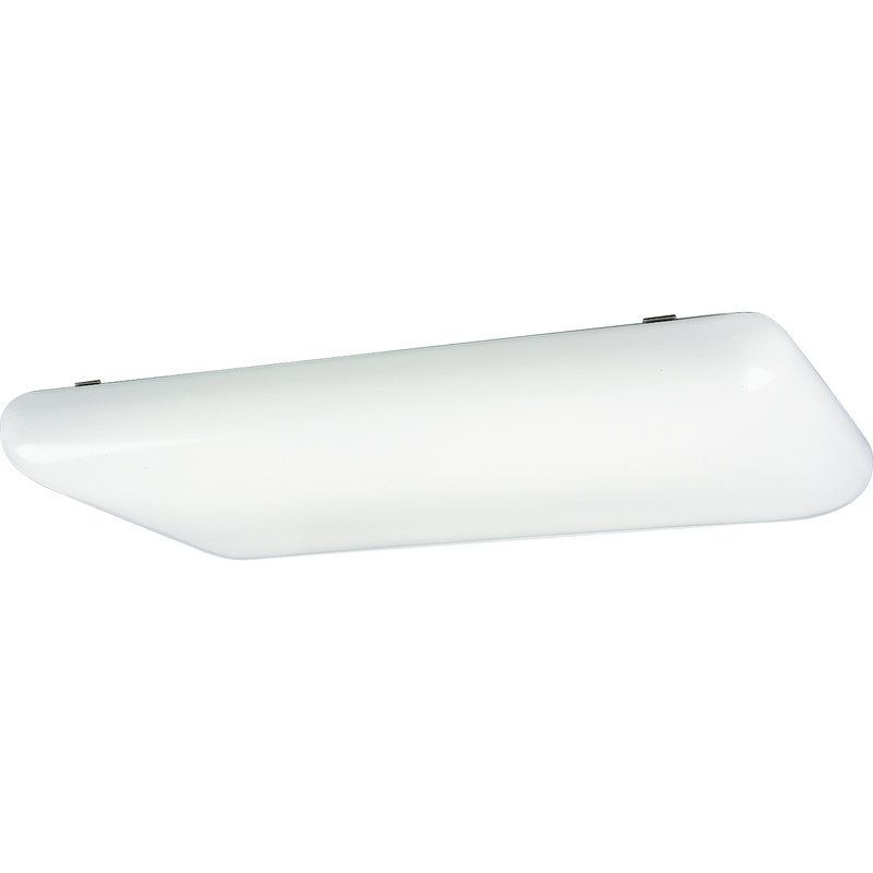 View the Progress Lighting P7280EB Modular Fluorescent Series Four-Light Energy Star Qualified Ceiling Fixture with Contoured White Acrylic Shade and 120V NPF Ballast at LightingDirect.com.