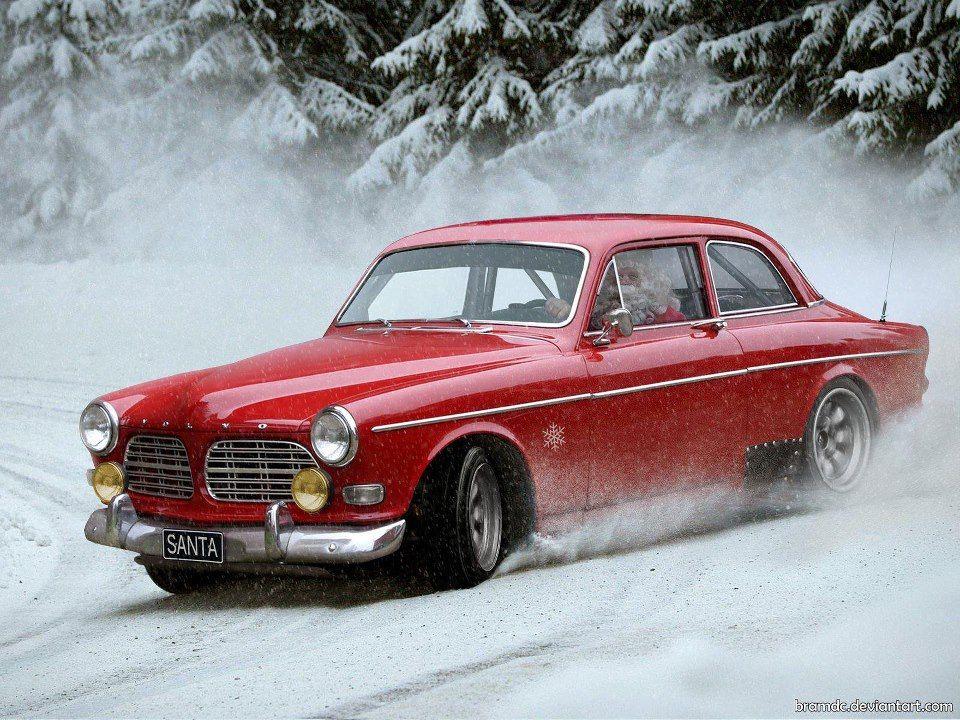 Santa Racing a '69 Volvo Amazon   Sweet, Odd & Rare Rides ...