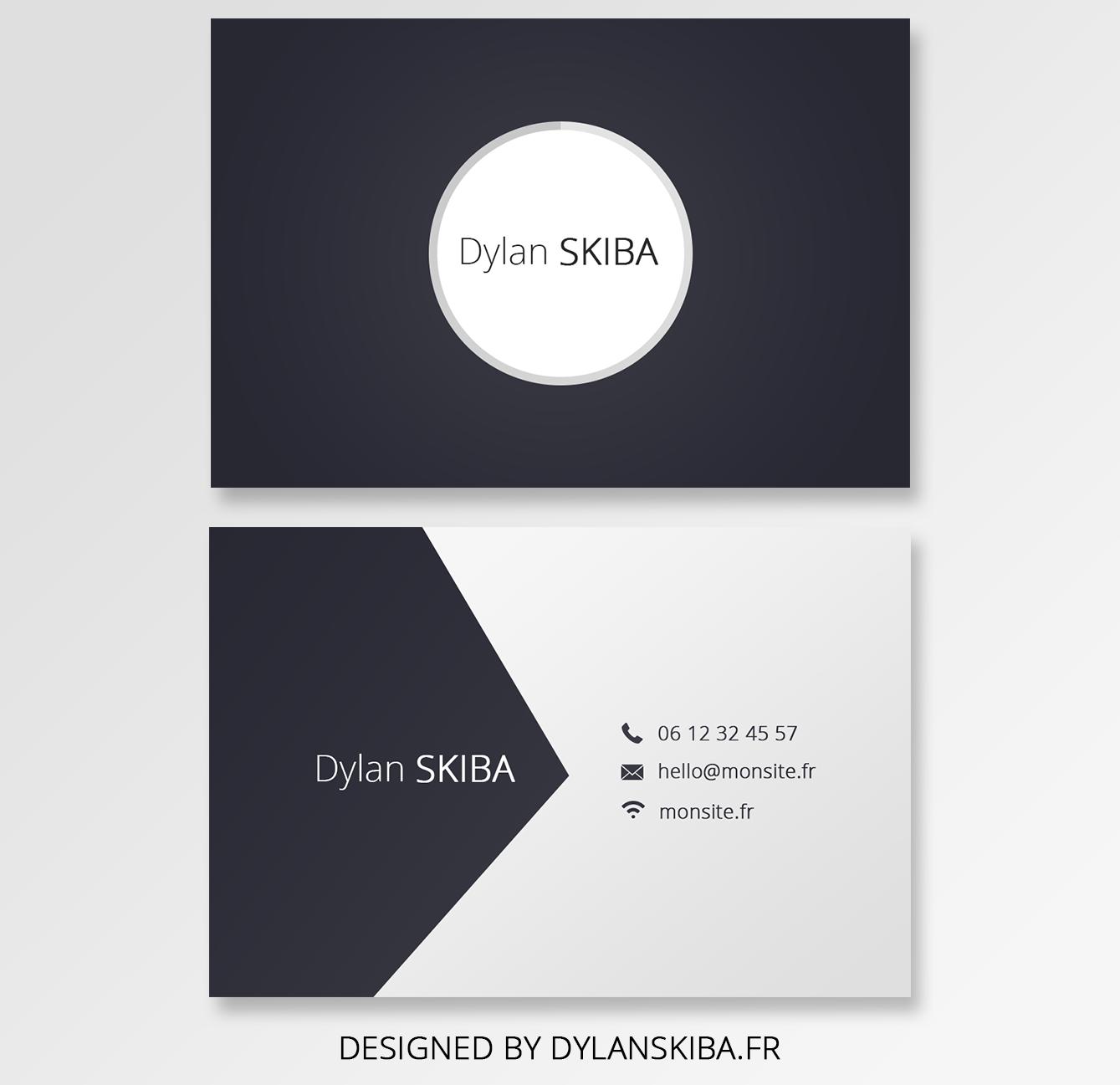 une carte sobre et minimaliste afin de donner ses coordonn u00e9es sans pour autant que cela ne