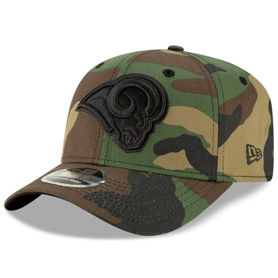 brand new e4c82 f25c0 Men s Los Angeles Rams New Era Camo Woodland Team Stretch 9FIFTY Snapback  Hat, Your Price