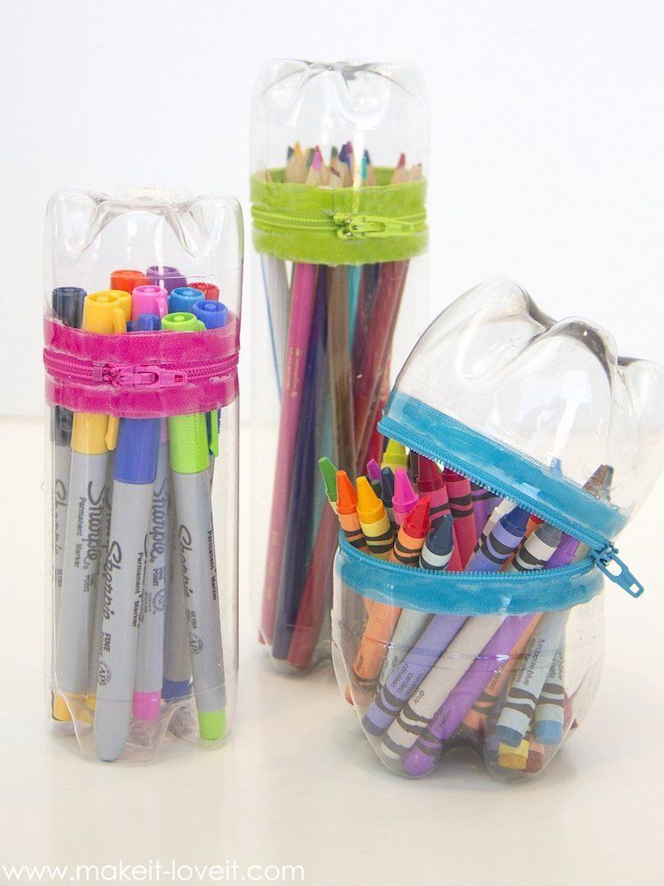 12 Genius Ways To Reuse Your Plastic Bottles Diy Pencil Case Recycle Crafts Diy Recycled Crafts Kids