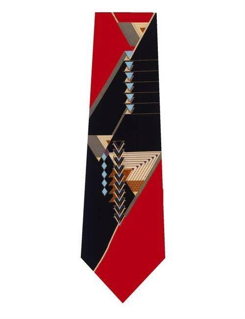 Frank Lloyd Wright September Desert Silk Tie - Red/Black #Boxelder #NeckTie
