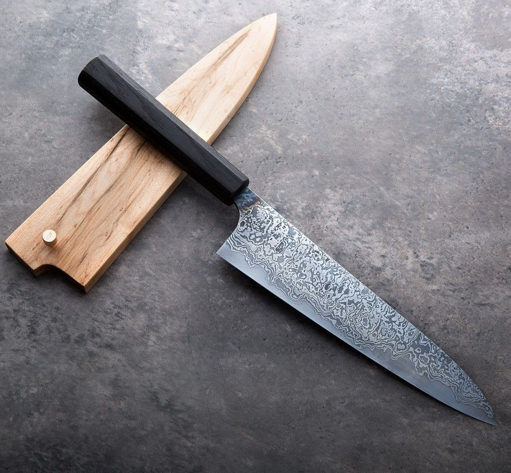 Bog Oak San Mai Gyuto 192mm Handmade Chef Knife By Robert Trimarchi Of The Nine Chefknife With Images Kitchen Knives Chef Knife Japanese Cooking Knives