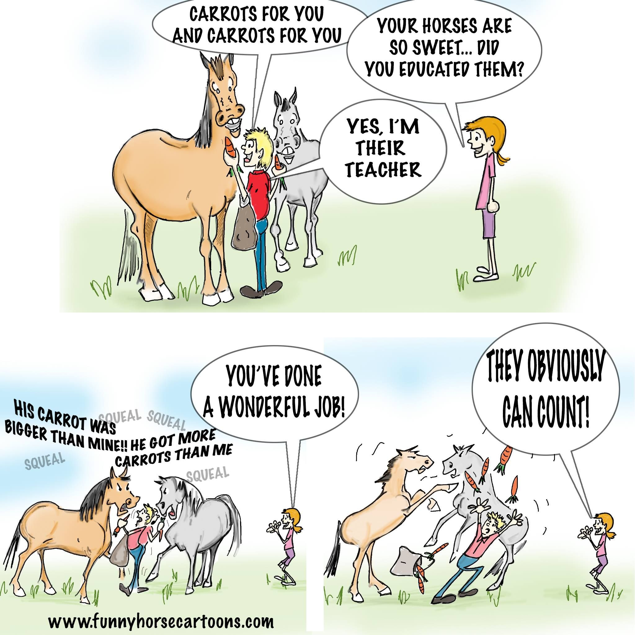 Animated Pictures With Quotes: Funny Horse Cartoons