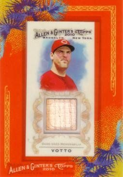 2010 Topps Allen & Ginter Joey Votto Game Used Bat Baseball Card by Topps Allen & Ginter. $11.95. Own a piece of Joey Votto memorabilia! This 2010 Topps Allen & Ginter card has an authentic piece of bat that Votto used during a major league baseball game.