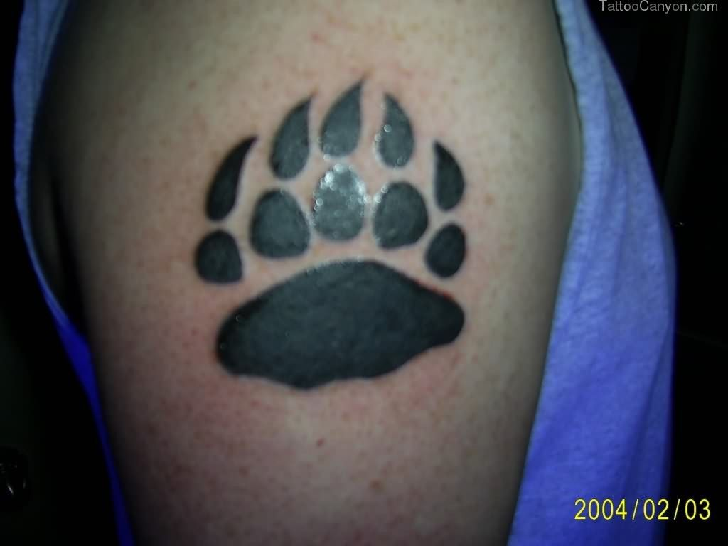 Bear Paw Black Tattoo picture 750 (With images) | Bear paw ...