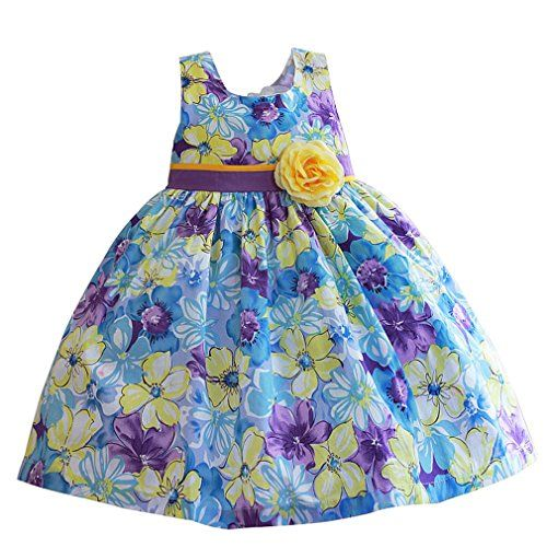 Mingao Sun Flower Girl Dress Party Sleeveless Beach 4 Years -- Find out more about the great product at the image link.Note:It is affiliate link to Amazon.
