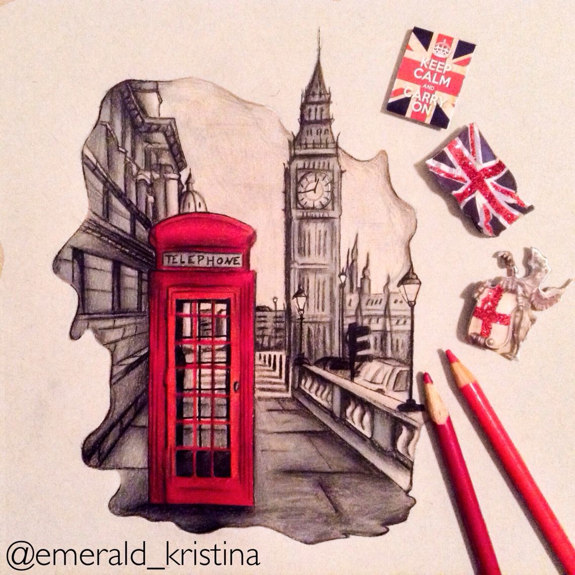 как нарисовать открытку великобритании городского голову можно