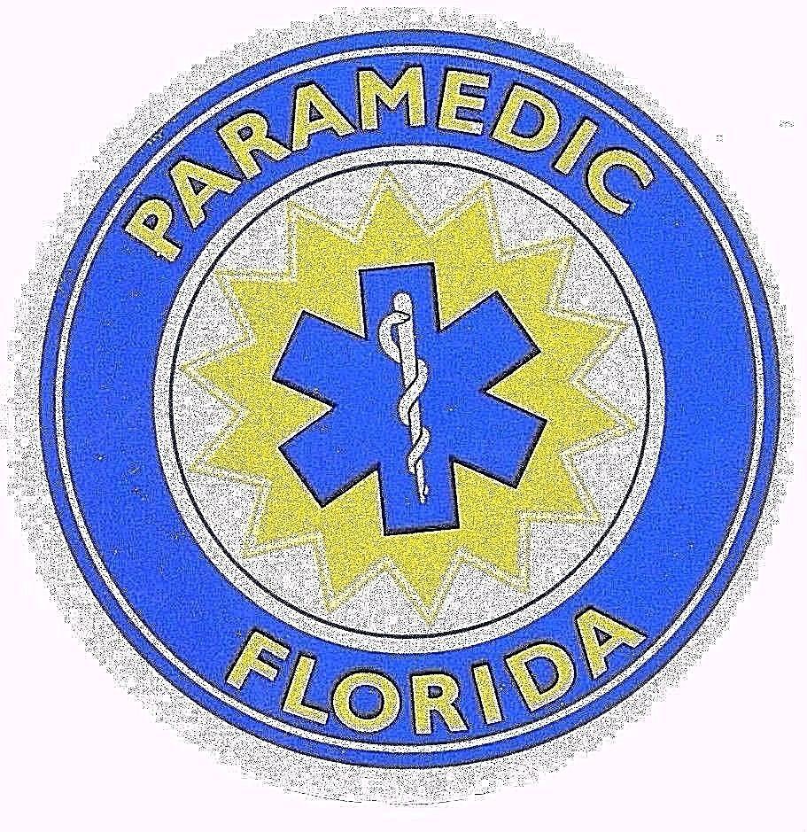 Florida paramedic highly reflective full color decal 3