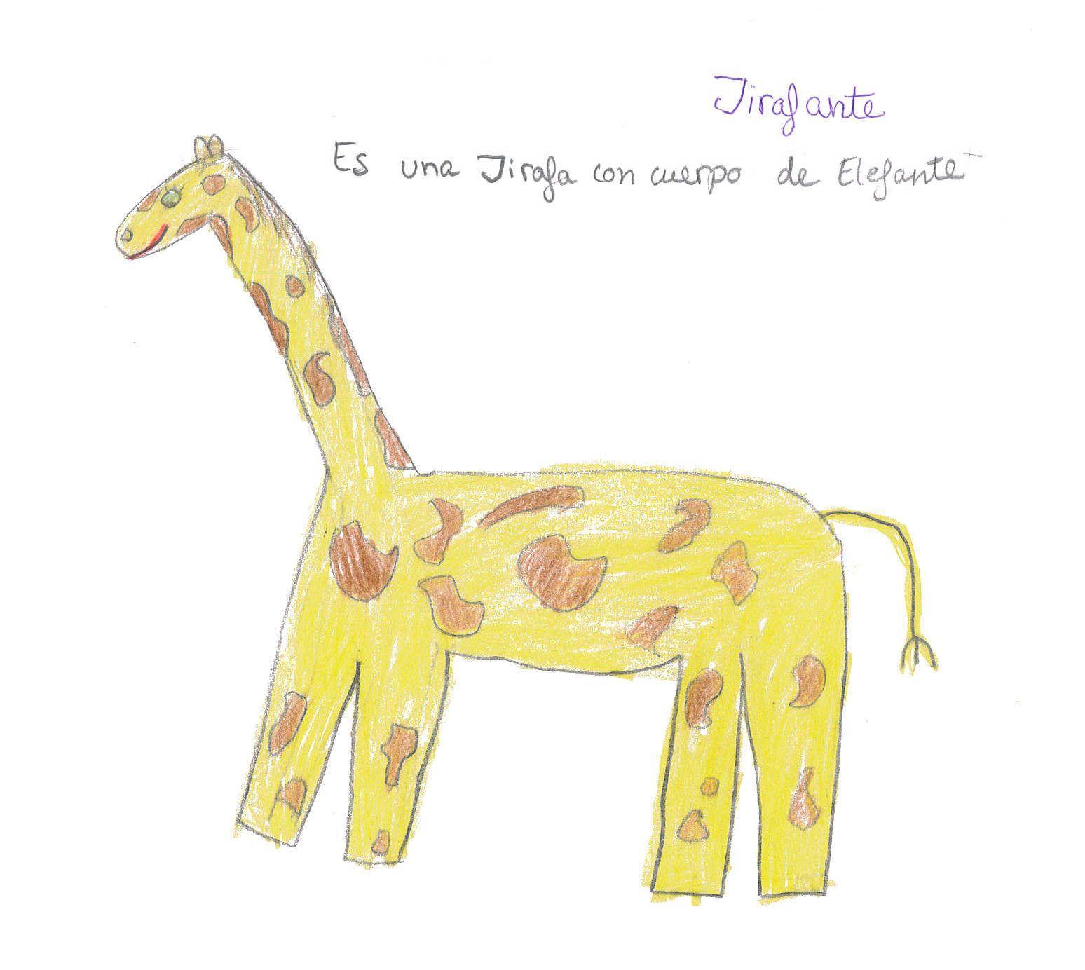 Jirafante Es Una Jirafa Con Cuerpo De Elefante Celia Elefante Dibujos