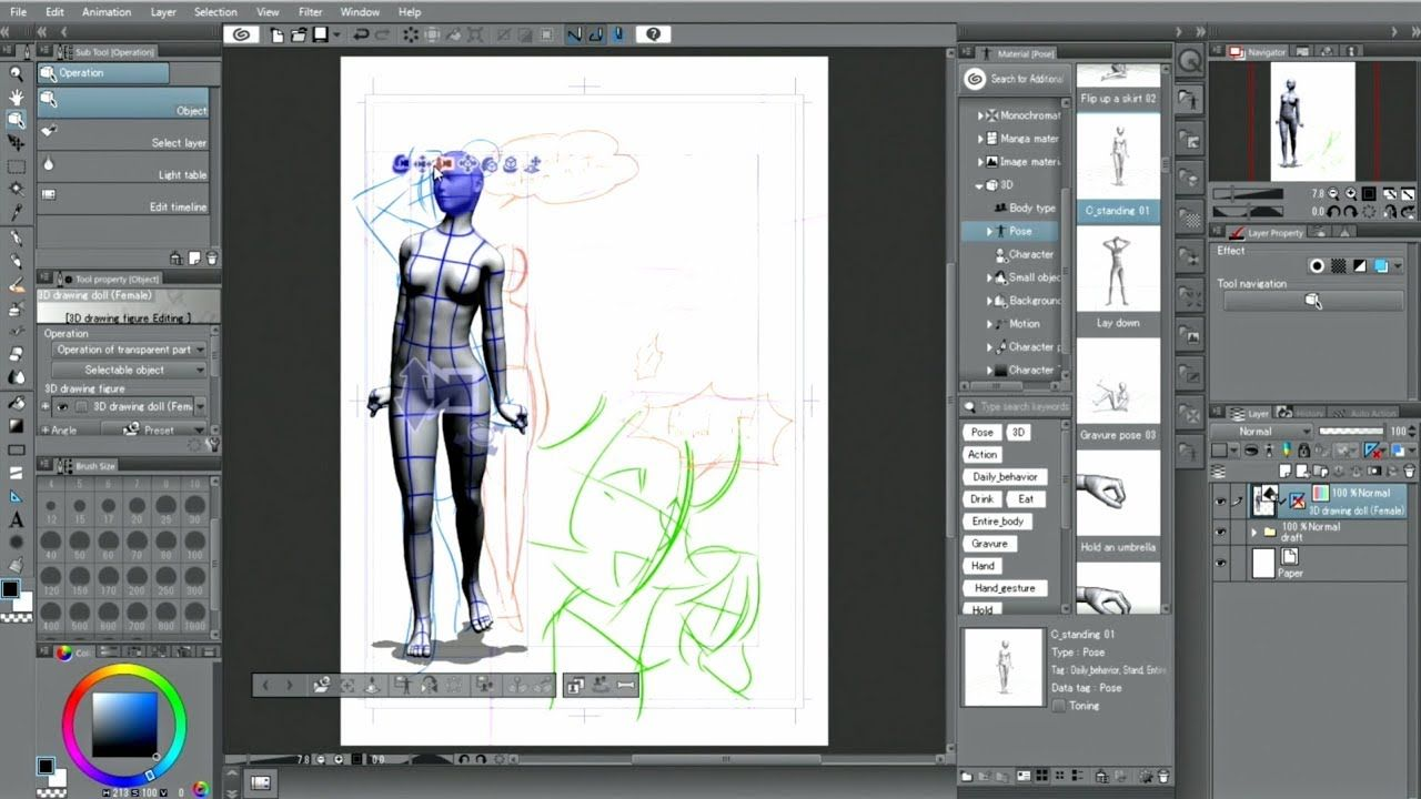 Clip Studio Paint Useful Features 3d Drawing Figures Clip Studio Paint Manga Studio Tutorial 3d Drawings