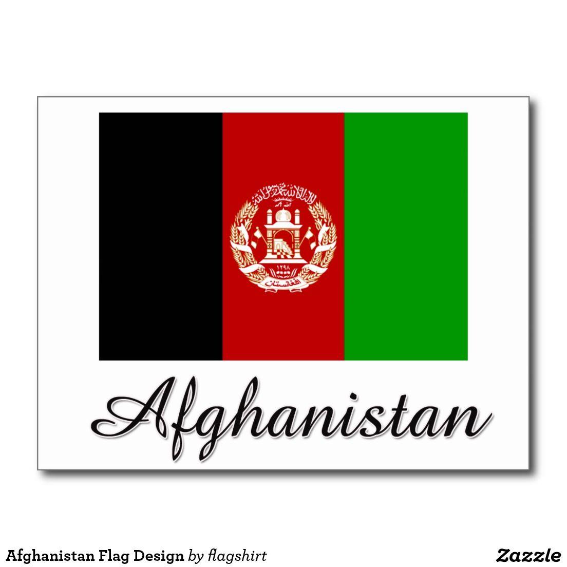 Afghanistan Flag Design Postcard Zazzle Com Flag Design