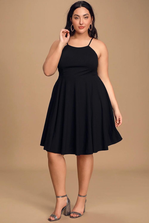 Irresistible Charm Black Midi Dress In 2021 Black Flare Dress Dresses Midi Dress [ 1500 x 1000 Pixel ]