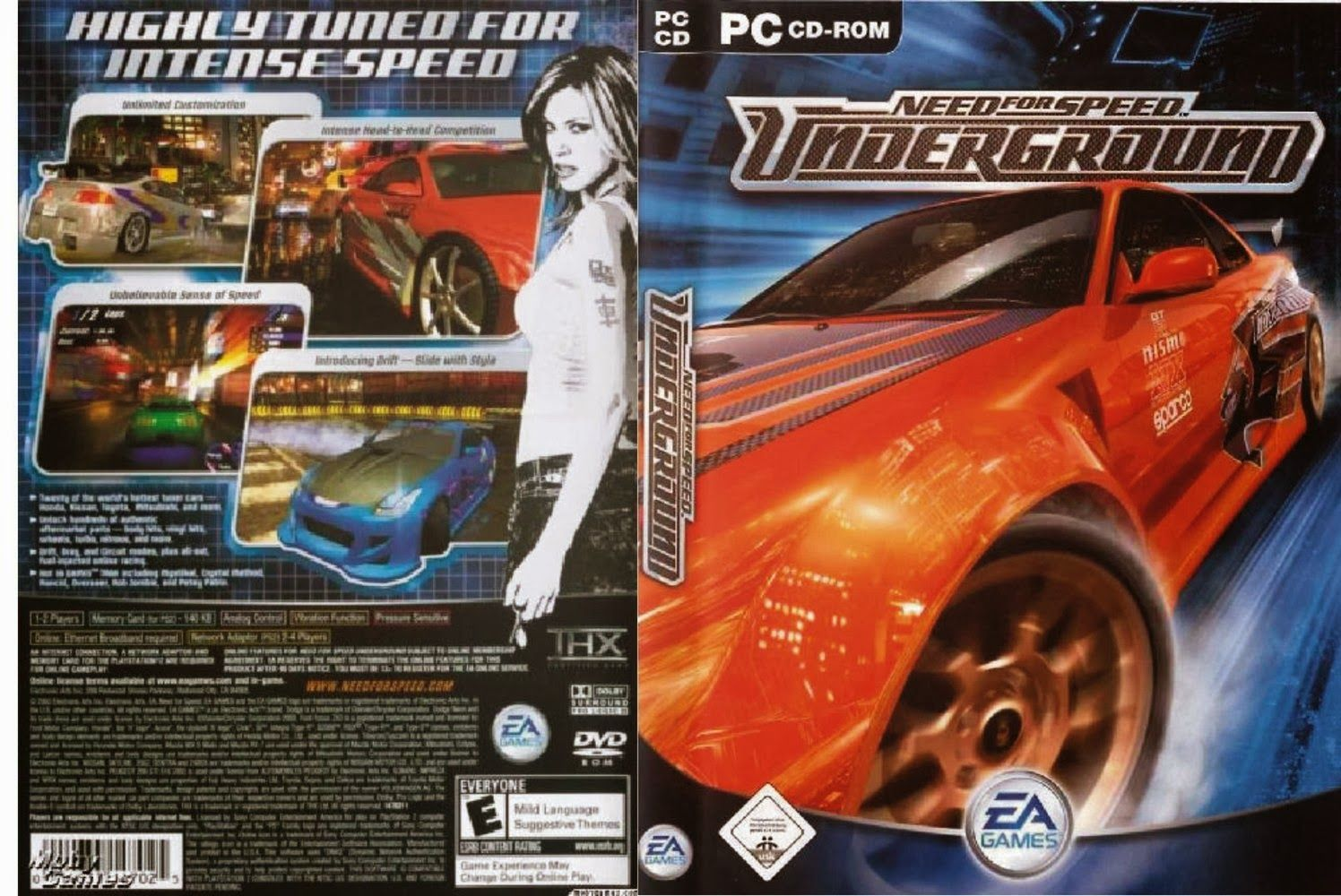 Need For Speed UnderGround 1 Highly Compressed Free