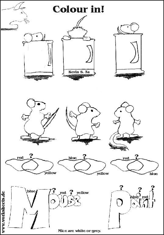 mouse paint worksheet-2nd grade | k-1 art projects | Art ...